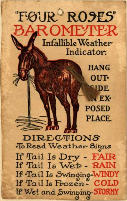 """Four Roses – """"Four Roses"""" Barometer: Infallible Weather Indicator"""