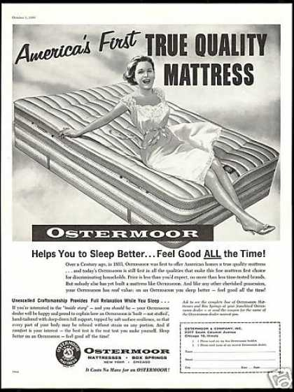 Ostermoor Mattress Box Springs Quality Bed (1960)