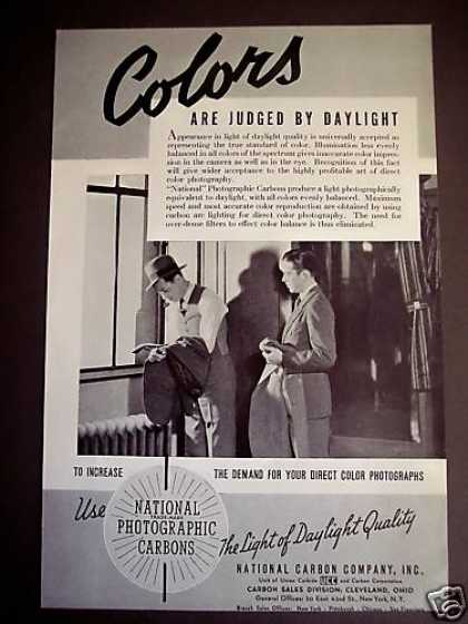 National Photographic Carbons Daylight Colors (1938)