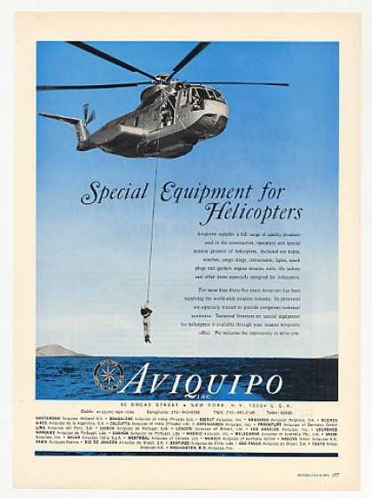 US Air Force CH53A Helicopter Aviquipo Photo (1969)