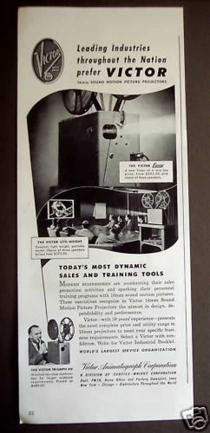 Victor 16mm Sound Motion Picture Projector (1949)