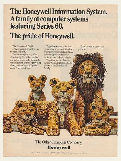 Honeywell Series 60 Computer Family of Lions (1974)