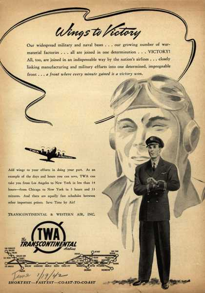 Transcontinental & Western Air – Wings to Victory (1942)