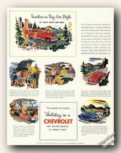Chevrolet Vacation In Big Car Style Antique (1947)