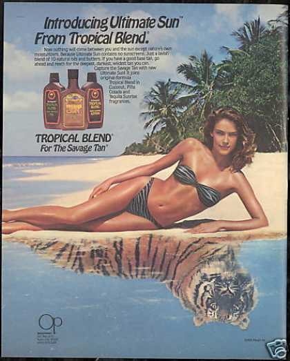 Tropical Blend Lotion OP Swimsuit Tiger (1985)