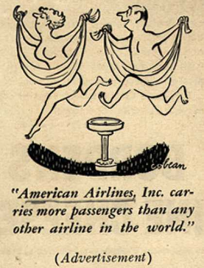 """American Airlines – """"American Airlines, Inc. carries more passengers than any other airline in the world."""" (1950)"""