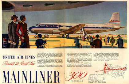 United Air Lines – United Air Lines Presents its Great New Mainliner 300 (1947)