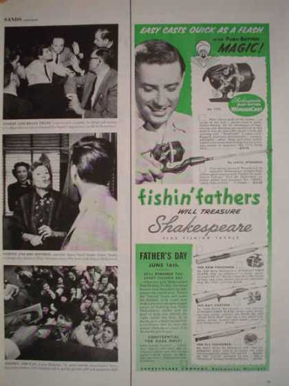 Shakespeare fishing reels and rods Push button (1957)