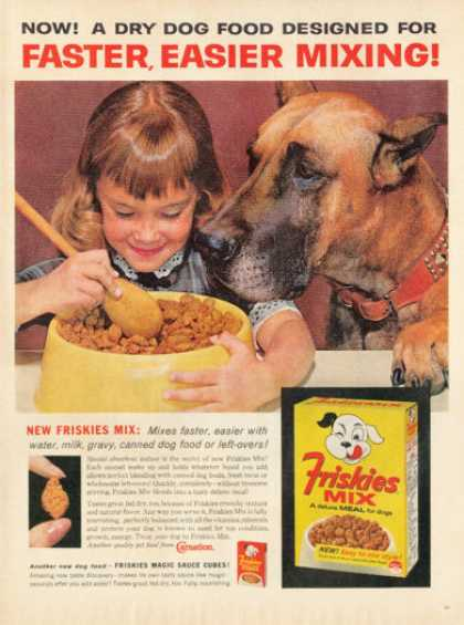 Friskies Dog Food Girl and Her Great Dane (1962)