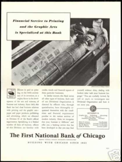 Chicago Tribune Paper Press First National Bank (1940)