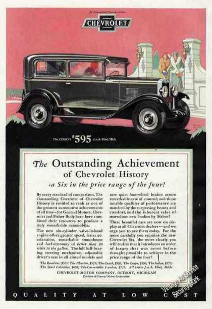 Outstanding Achievement of Chevrolet History (1929)