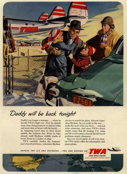 Trans World Airline's Business Travel – Daddy will be back tonight (1951)
