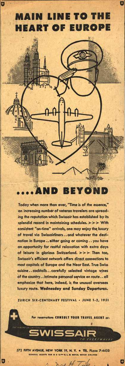 SwissAir's Europe – Main Line To The Heart of Europe... and Beyond (1951)