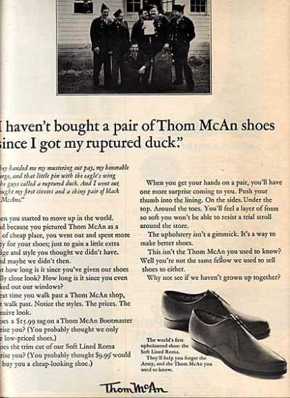 Thom McAn's affordable (1965)