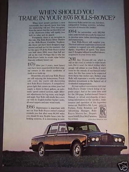 When To Trade In Your Rolls Royce Car (1976)