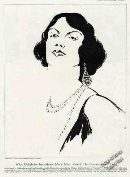 Mary Nash Magazine Drawing By Ethel Taylor (1928)