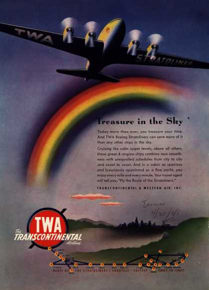 Transcontinental & Western Air's Stratoliners – Treasure in the Sky (1941)