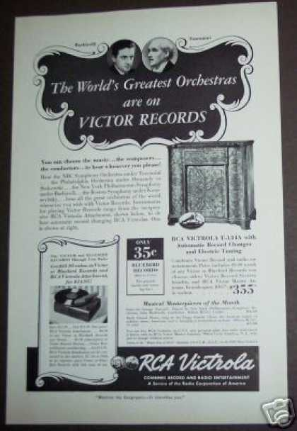 Orchestras On Victor Records Rca Victrola (1939)