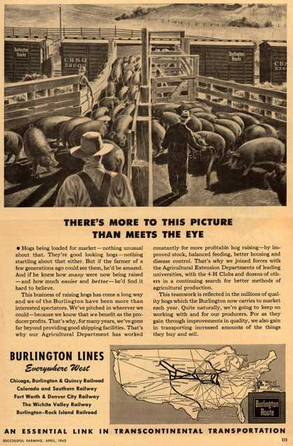 Burlington Line's teamwork with producers – There's More To This Picture Than Meets The Eye (1945)