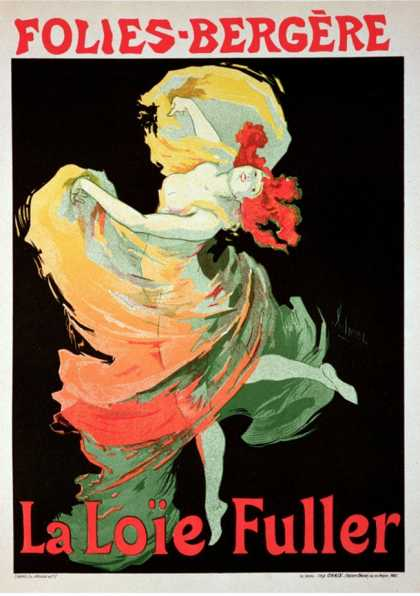 """Reproduction of a Poster Advertising """"Loie Fuller"""" at the Folies-Bergere (1893)"""