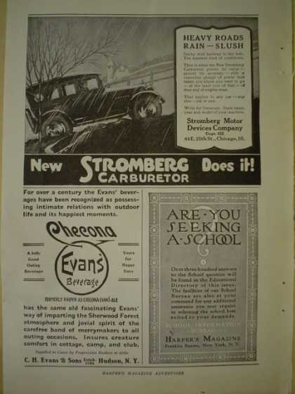 Stromberg Carburetor AND Checona Evans CH Evans and Sons (1920)