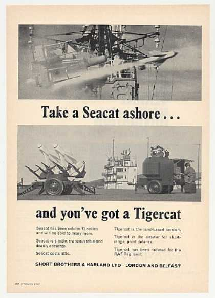 Short Brothers Seacat Tigercat Missiles Photo (1967)