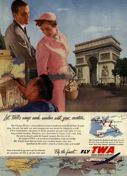 Trans World Airline's Vacation Travel – Let TWA's wings work wonders with your vacation (1954)