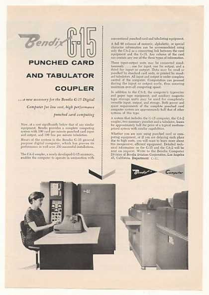 Bendix G-15 Computer CA-2 Punched Card Coupler (1959)