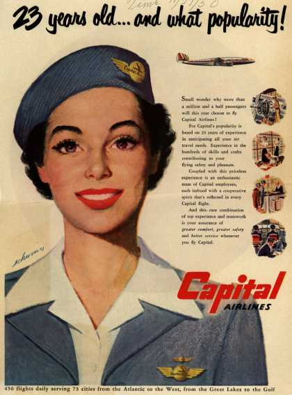 Capital Airlines – 23 years old... and what popularity (1950)
