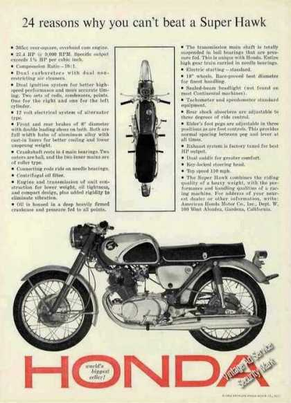 """Honda """"Why You Can't Beat a Super Hawk"""" Cycle (1963)"""