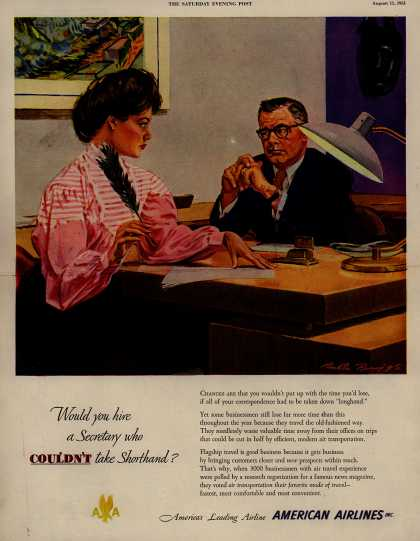 American Airlines – Would You Hire a Secretary Who Couldn't Take Shorthand? (1951)