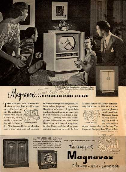 Magnavox Company's Television – Magnavox... a showpiece inside and out (1950)