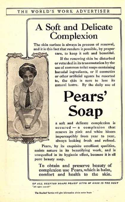 Pear's Scented Soap (1910)