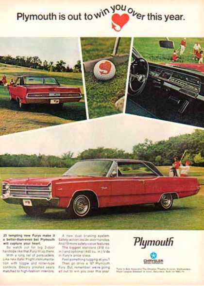 Chrysler Car – Plymouth Fury III – Red with Black Roof (1967)