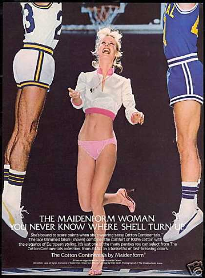 Sexy Woman Basketball Ref Maidenform Lingerie (1982)