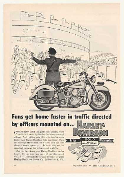 Harley-Davidson Police Solo Motorcycle Game (1954)