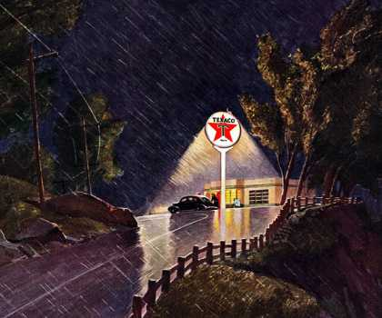 THE STAR THAT SHINES ALL NIGHT! Texaco,  Peter Helck (1941)