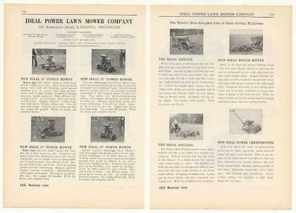 Ideal Modern Machine Works Lawn Mowers 4-Page (1931)