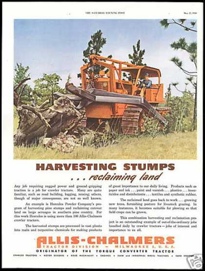 Allis Chalmers Tractor Reclaiming Land (1950)