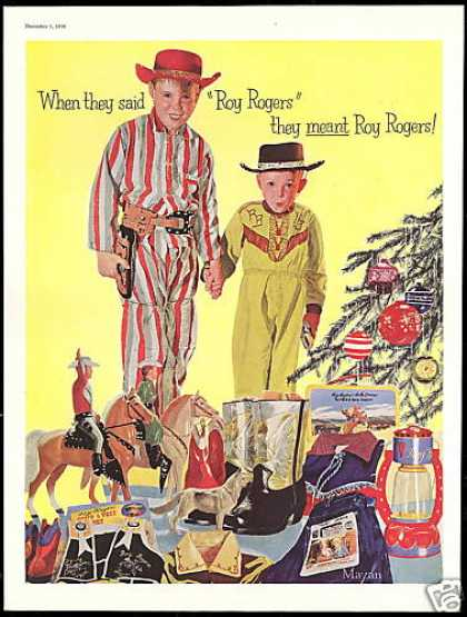 Roy Rogers Christmas Toy Cowboy Boots Mayan Art (1956)