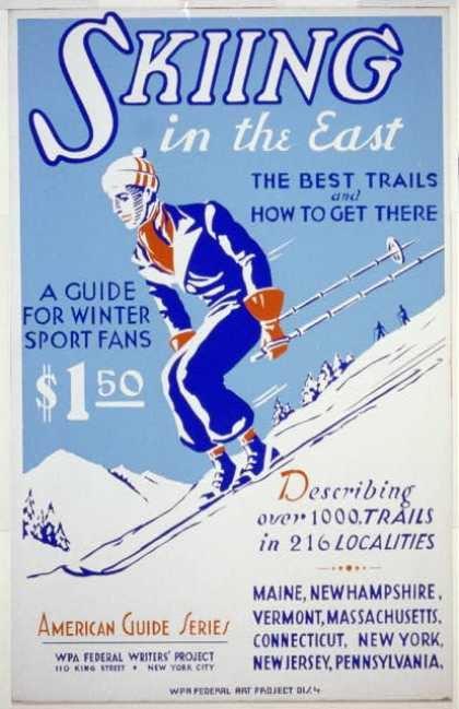 Skiing in the East – The best trails and how to get there – A guide for winter sport fans – Describing over 1000 trails in 216 localities. (1936)