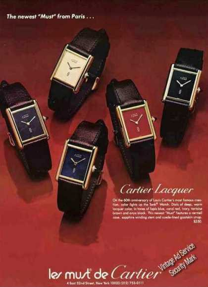Cartier Lacquer Wristwatches Nice (1977)
