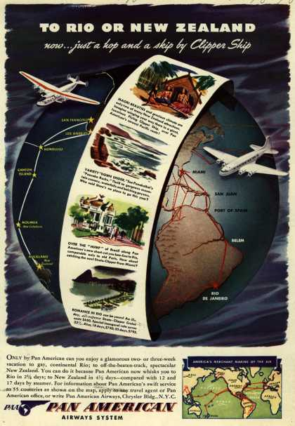 Pan American Airways System's Rio, New Zealand – To Rio Or New Zealand (1940)