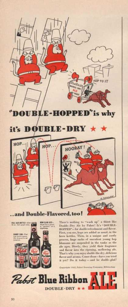 Pabst Blue Ribbon Beerdouble Dry (1942)