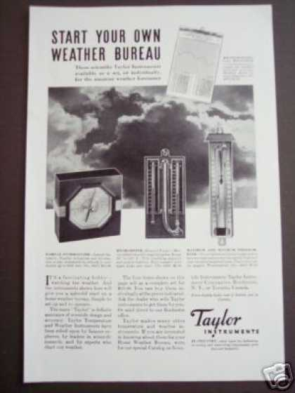 Taylor Instruments Thermometer Hygrometer (1935)