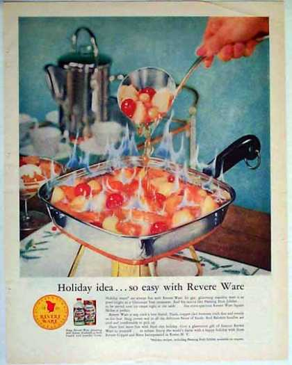 Revere Ware Holiday – Flaming Fruit Jubilee – Sold (1957)