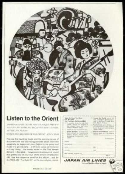 JAL Japan Airlines Listen To Orient (1966)