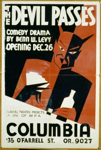 The Devil passes – Comedy drama by Benn W. Levy – opening Dec. 26. (1936)