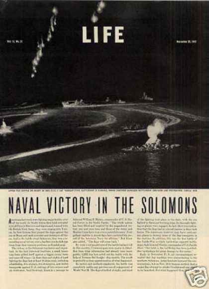 """""""Naval Victory In the Solomons"""" Article (1942)"""