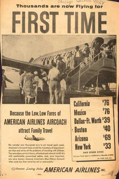 American Airlines – Thousands Are Now Flying for First Time (1954)
